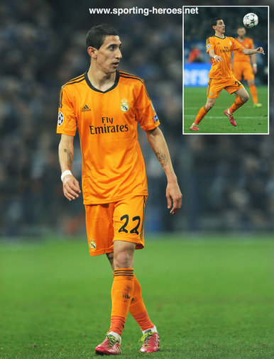 angel di maria   2013 14 champions league matches   real