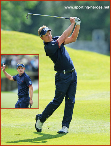 Luke Donald - England - Joint third at 2014 European PGA Championship.
