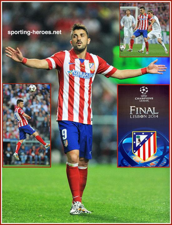 David VILLA - 2014 UEFA Champions League Final. - Atletico Madrid 43374e547