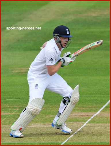 Sam ROBSON - England - Cricket Test Record for England.