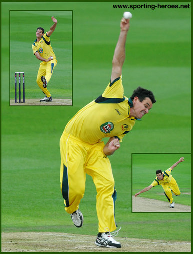 Clint McKAY - Australia - Test record for Australia.