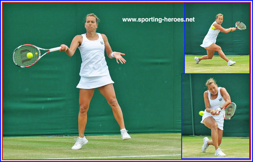 Barbora ZAHLAVOVA-STRYCOVA - Czech Republic - Quarter-finalist at Wimbledon 2014.