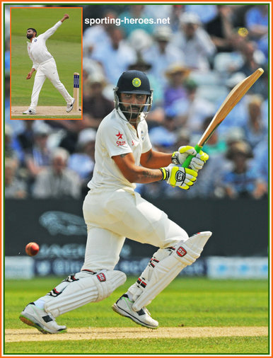 Ravindra JADEJA - India - Test Record for India.