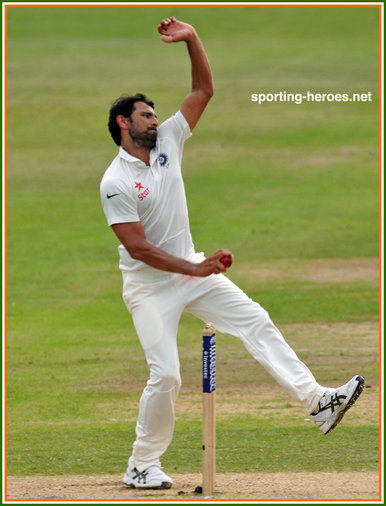 Mohammed SHAMI - India - Test Record for India.