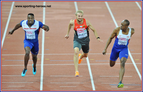 Harry AIKINES-ARYEETEY - Great Britain - 2013 bronze medal in 100m at European Championships.
