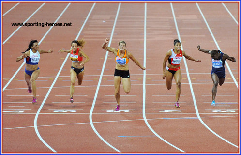 Ashleigh NELSON - Great Britain - Bronze medal in 100m at 2014 European Championships.