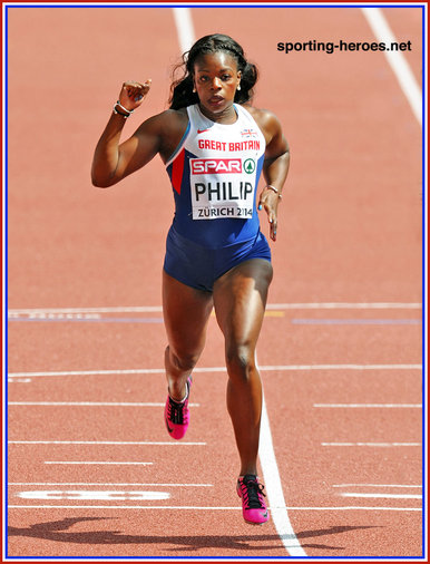 Asha PHILIP - Great Britain - Gold medal 4 x 100m relay at 2014 European Championships.