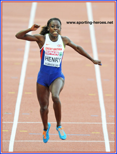 Desiree HENRY - Great Britain - Gold 4x100m at 2014 European Champs. 2016 Olympic bronze.