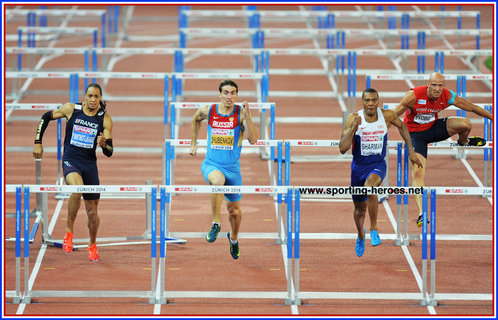 William Sharman - Great Britain - Silver medal in 110mh at 2014 European Championships.