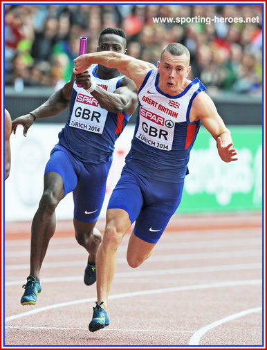Richard KILTY - Great Britain - Gold medals at World Indoors & Europeans, in Zurich.