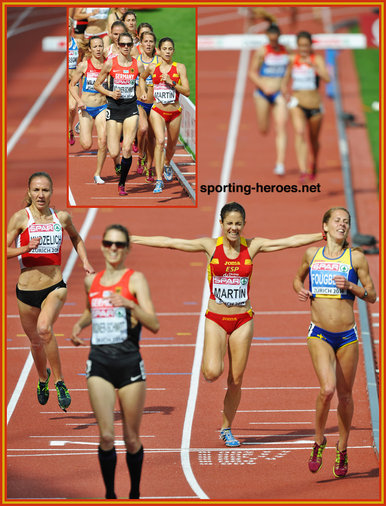 Diana MARTIN - Spain - 3rd. in 3000m SC at 2014 European Championships
