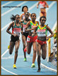 Gladys CHERONO - Kenya - 2nd. in women's 10,000m at 2013 World Championship.
