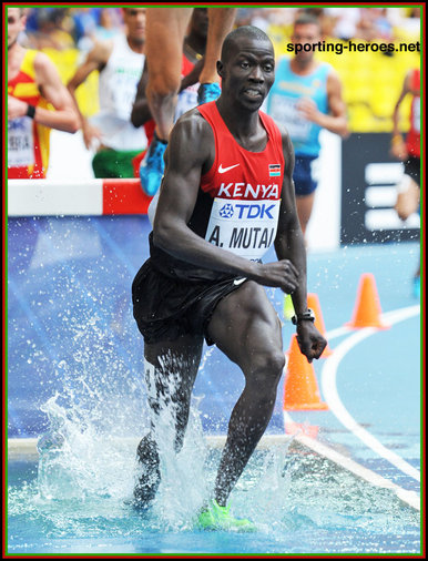 Abel Kiprop MUTAI - Kenya - 7th. in steeplechase at 2013 World Championships
