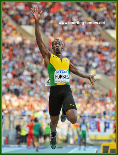 Damar FORBES - Jamaica - Finalist at the 2013 World Athletics Championships.