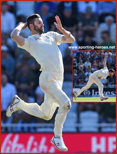 Mark WOOD - England - Test cricket matches for England.