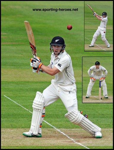 Tom LATHAM - New Zealand - Test Cricket Record for New Zealand.
