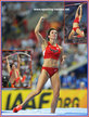Jennifer SUHR - U.S.A. - Silver medal at 2013 World Athletics Championships.