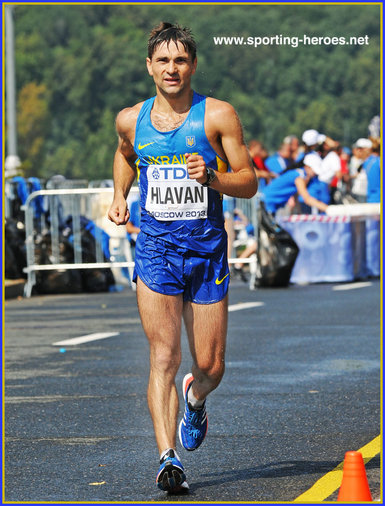 Ihor HLAVAN - Ukraine - 4th at 2013 World Athletics Championships in 50k walk.