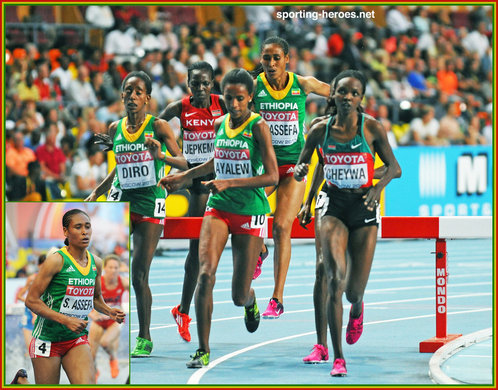 Sofia ASSEFA - Ethiopia - Bronze medal in steeplecahse at 2013 World Championships.