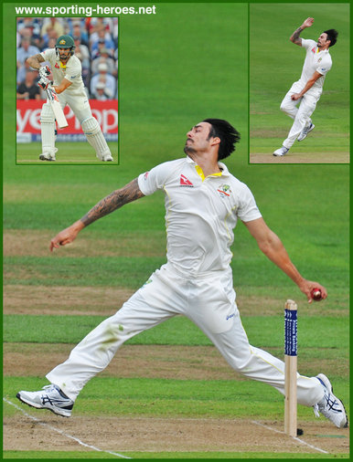 Mitchell Johnson - Australia - Test Cricket Record 2011 onwards
