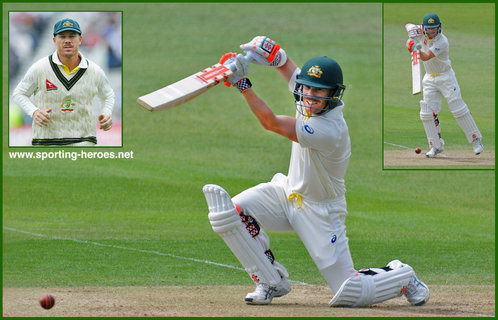 David WARNER - Australia - International Test cricket record 2014 onwards.