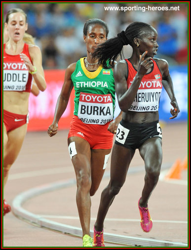 Vivian Cheruiyot - Kenya - 2015 World 10,000 metres Champion in China.