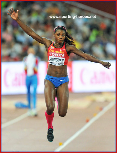 Caterine IBARGUEN - Colombia - 2015 World champion. 2016 Olympic champion