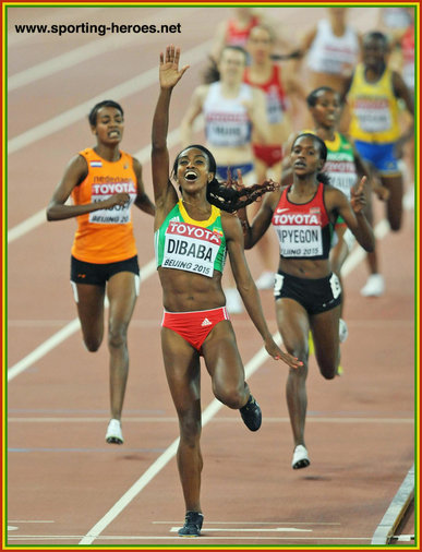 Genzebe DIBABA - Ethiopia - World 1500m champion in Beijing. Silver at 2016 Olympics.