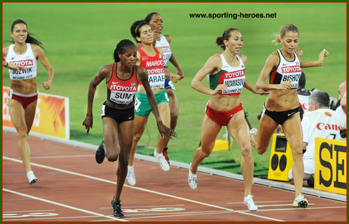 Maryna ARZAMASAVA - 2015 World 800m champion in Beijing.