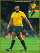 Sekope KEPU - Australia - 2015 Final & Semi Final Rugby World Cup.
