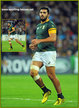 Damian DE ALLENDE - South Africa - 2015 World Cup semi final & bronze medal final.