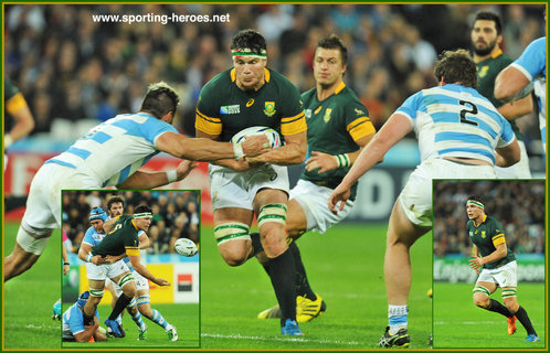 Francois LOUW - South Africa - 2015 World Cup semi final & bronze medal final.