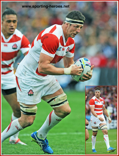 Luke Thompson - Japan - 2015 Rugby World Cup.