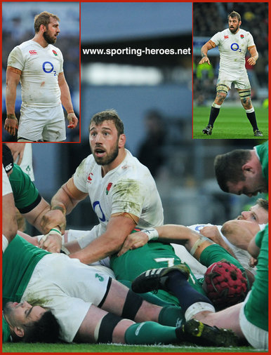Chris ROBSHAW - England - 2016 Six Nations Grand Slam games.