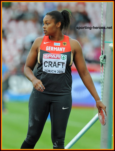 Shanice CRAFT - Germany - 3rd. at the 2014 European Championships.