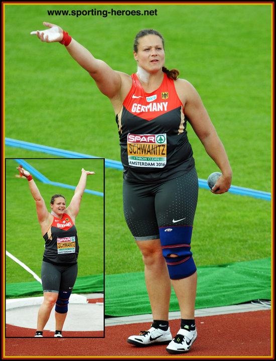 Christina SCHWANITZ - 2016 European Championship shot put ...