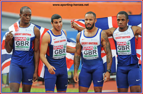 James ELLINGTON - Great Britain & N.I. - Gold medal in 4x100m at 2016 European Championships.