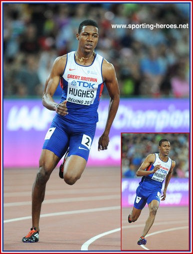 Zharnel HUGHES - Great Britain - Fifth in 200m at 2015 World Championships.