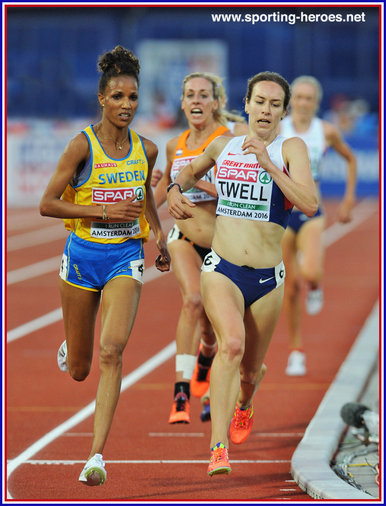 Steph TWELL - Great Britain - 5000m bronze medal at 2016 European Championships.