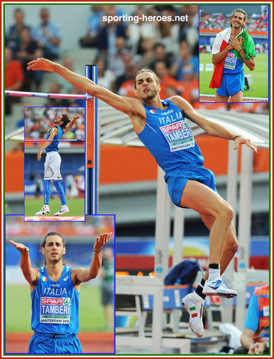 Gianmarco  TAMBERI - Italy - 2016 European men's high jump champion.