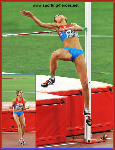 Blanka Vlasic - Croatia  - 2015 World Championships & 2016 Olympic Games medals.
