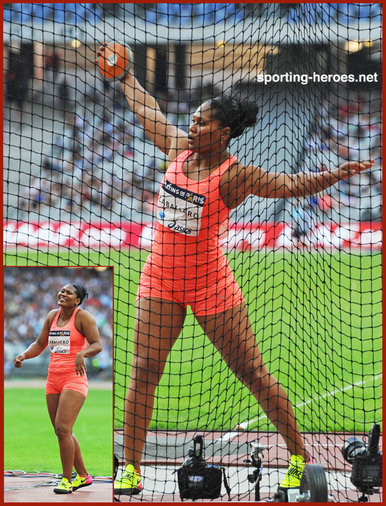 Denia  CABALLERO - Cuba - Discus bronze at Olympics & Gold at 2015 World Championships.