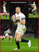 Mike BROWN - England - International rugby caps. 2014-
