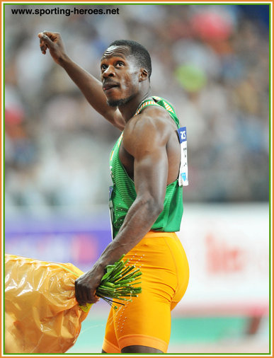 Ben Youssef MEITE - Ivory Coast - Sixth at Rio Olympic in National 100m record time.