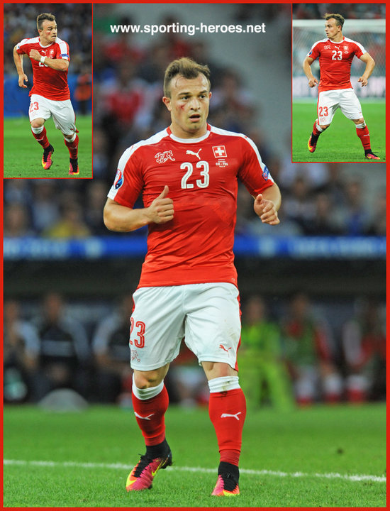 Xherdan Shaqiri 2016 European Football Finals Euro 2016 Switzerland