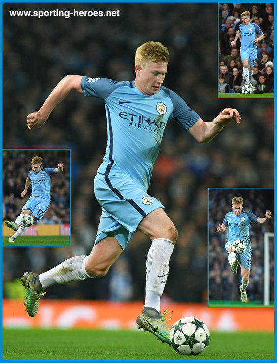 Kevin De BRUYNE - 2016 17 Champions League. - Manchester City FC 2c14f24e5