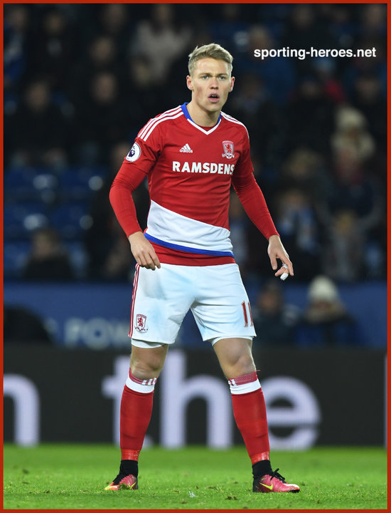 Viktor FISCHER - Premier League Appearances - Middlesbrough FC