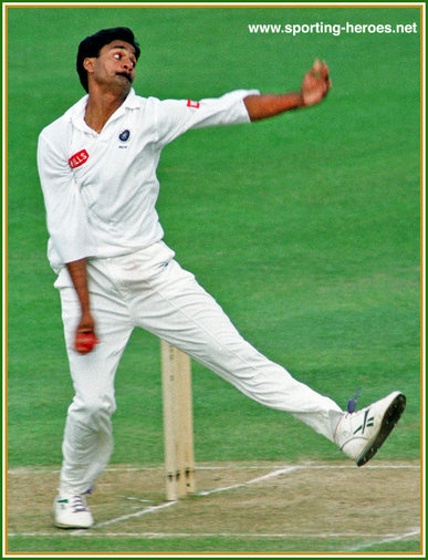 Javagal SRINATH - India - Test Career.