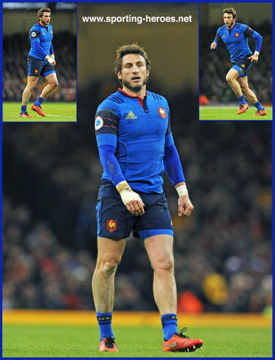 Maxime Medard - France - International Rugby Caps. 2014 -