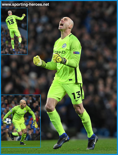 Willy CABALLERO - Manchester City FC - 2016/17 Champions League. Knock out games.